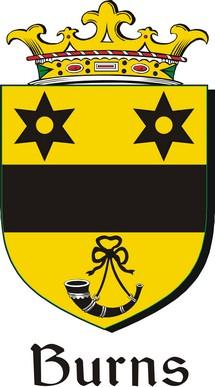 Thumbnail Burns Family Crest / Irish Coat of Arms Image Download