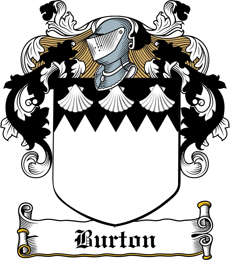 Thumbnail Burton Family Crest / Irish Coat of Arms Image Download