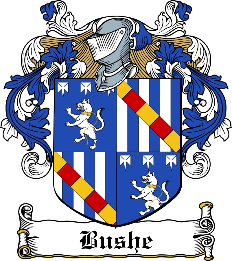 Thumbnail Bushe Family Crest / Irish Coat of Arms Image Download