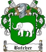 Thumbnail Butcher Family Crest / Irish Coat of Arms Image Download