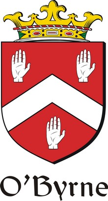 Thumbnail Byrne-O Family Crest / Irish Coat of Arms Image Download