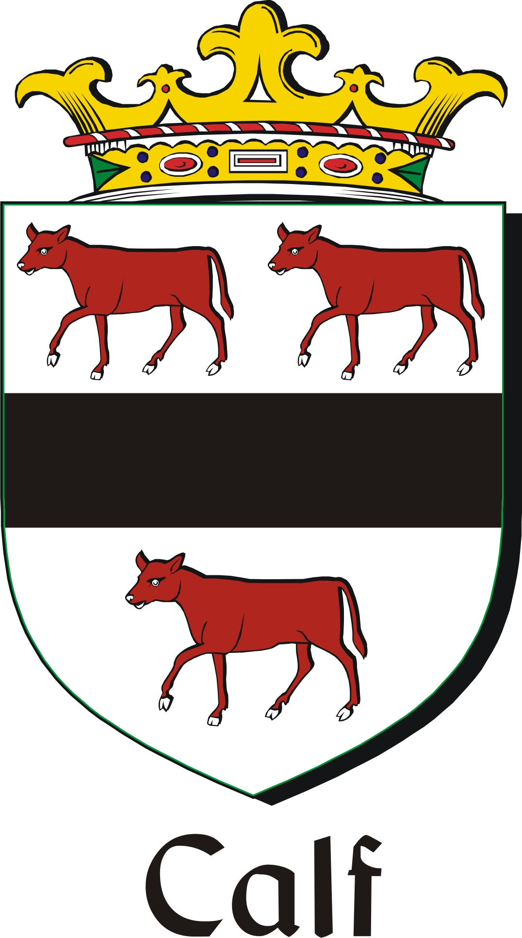 Thumbnail Calf Family Crest / Irish Coat of Arms Image Download