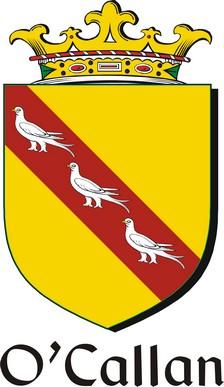 Thumbnail Callan-O Family Crest / Irish Coat of Arms Image Download