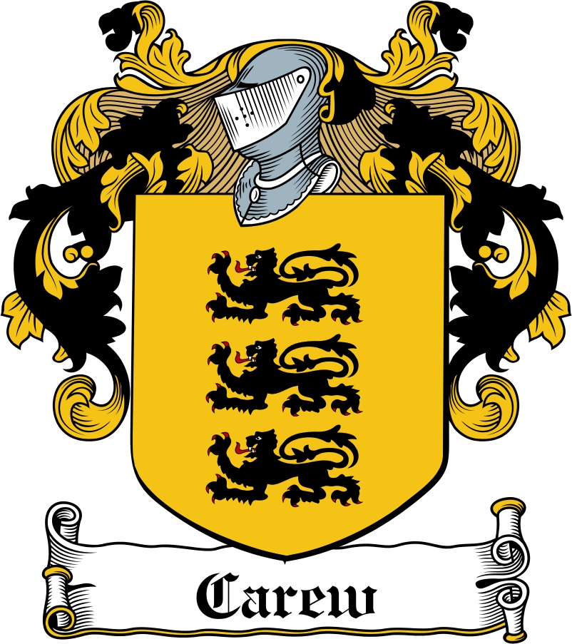 Thumbnail Carew Family Crest / Irish Coat of Arms Image Download