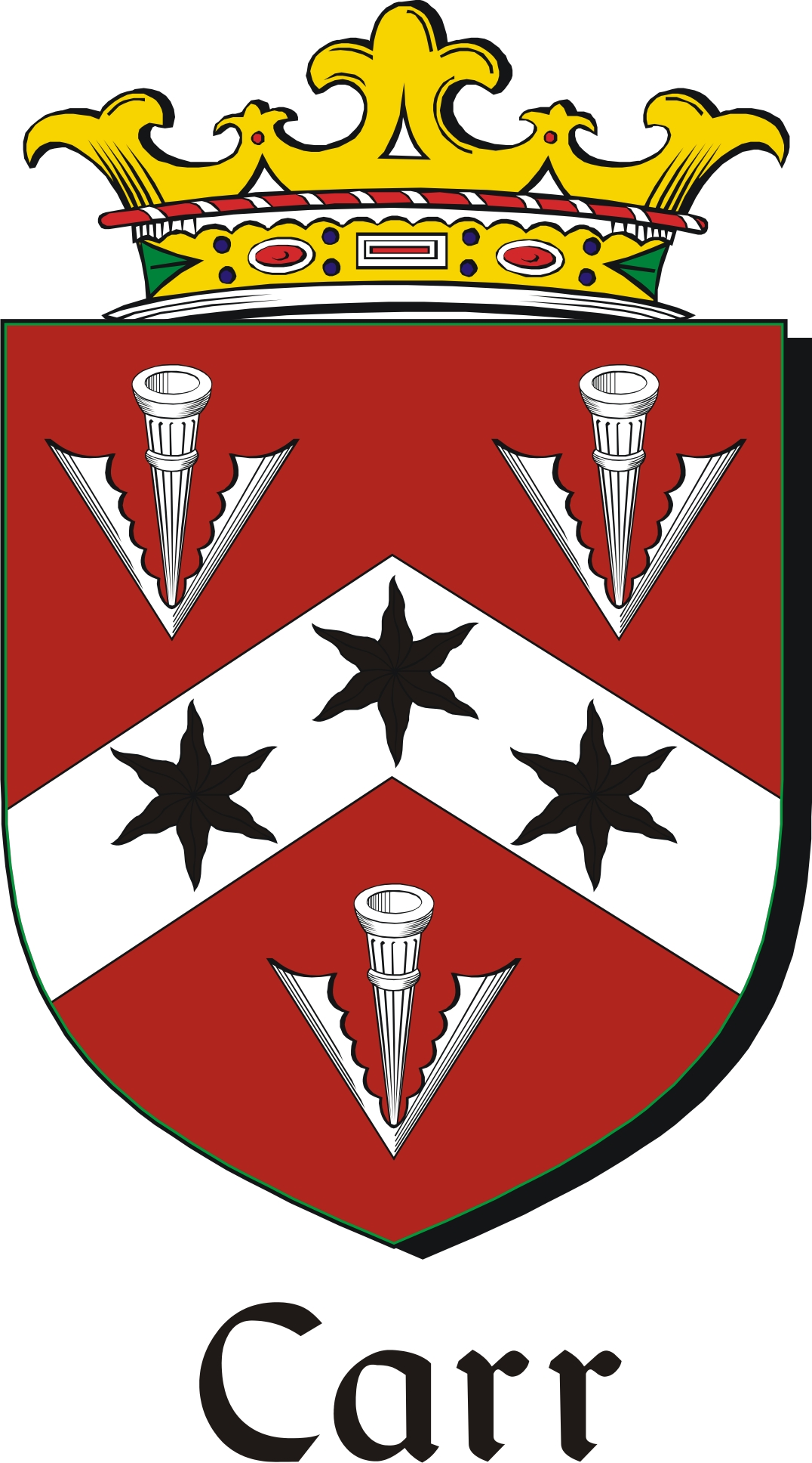 Thumbnail Carr Family Crest / Irish Coat of Arms Image Download