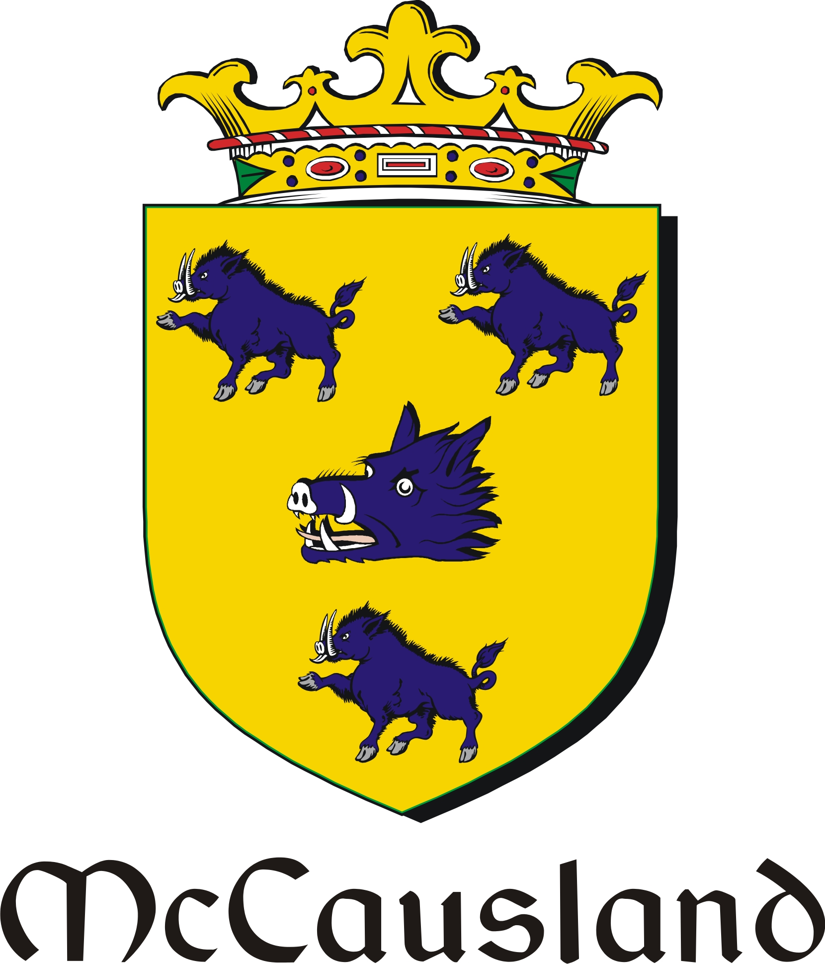 Thumbnail Causland-Mc Family Crest / Irish Coat of Arms Image Download