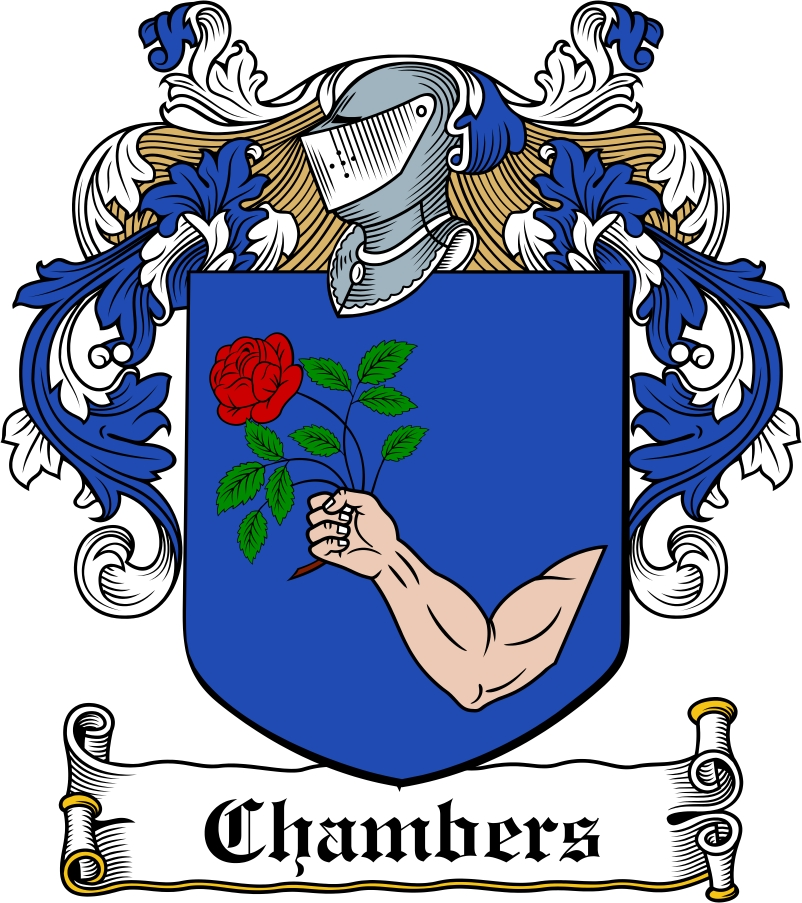 Thumbnail Chambers Family Crest / Irish Coat of Arms Image Download