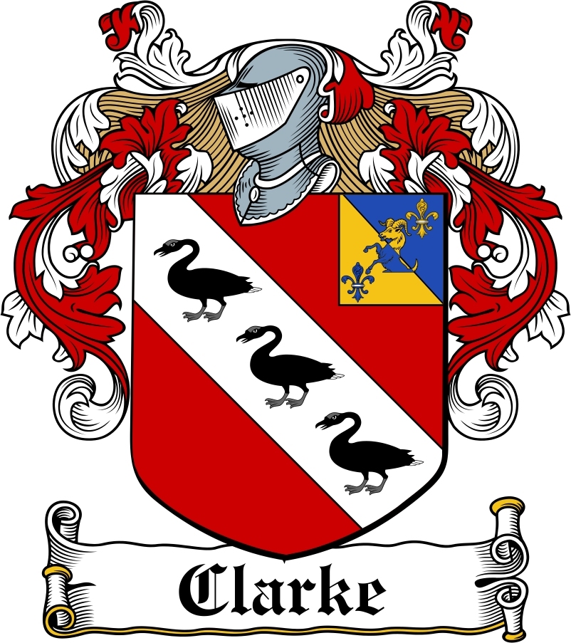 Thumbnail Clarke Family Crest / Irish Coat of Arms Image Download