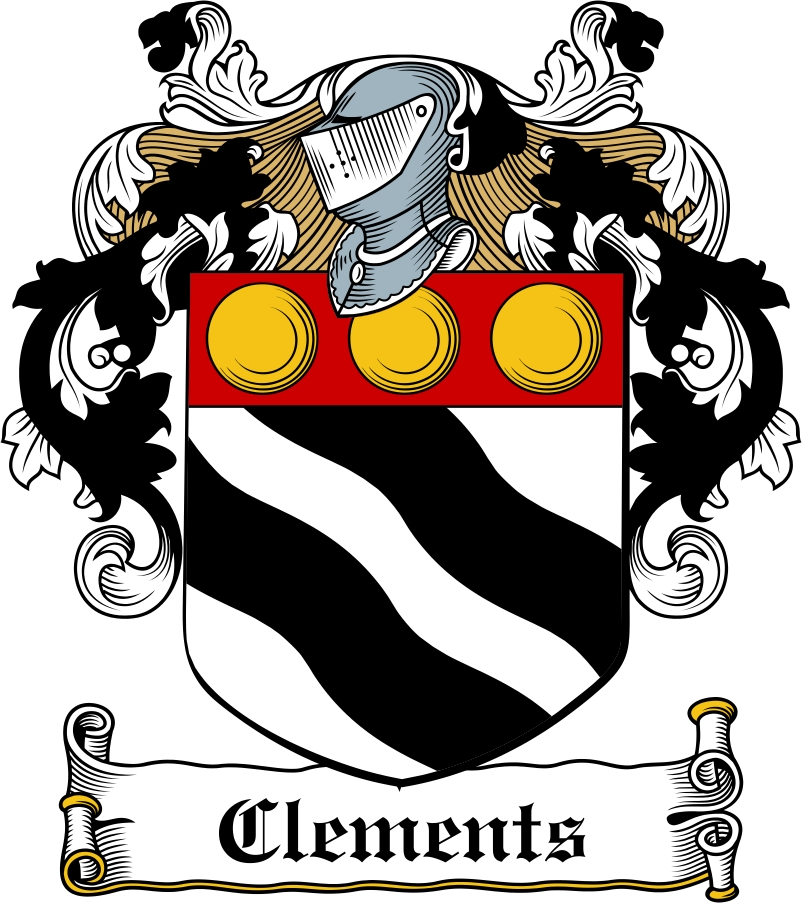 Thumbnail Clements Family Crest / Irish Coat of Arms Image Download