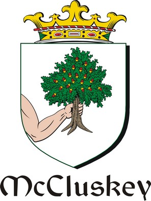 Thumbnail Cluskey-Mc Family Crest / Irish Coat of Arms Image Download