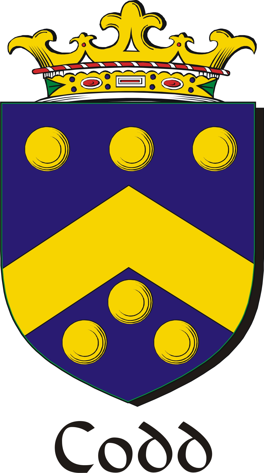Thumbnail Codd Family Crest / Irish Coat of Arms Image Download