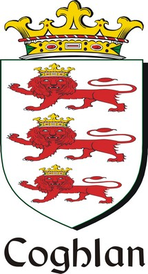 Thumbnail Coghlan Family Crest / Irish Coat of Arms Image Download