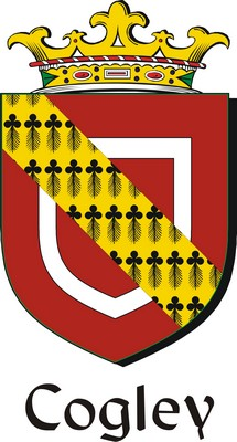 Thumbnail Cogley Family Crest / Irish Coat of Arms Image Download