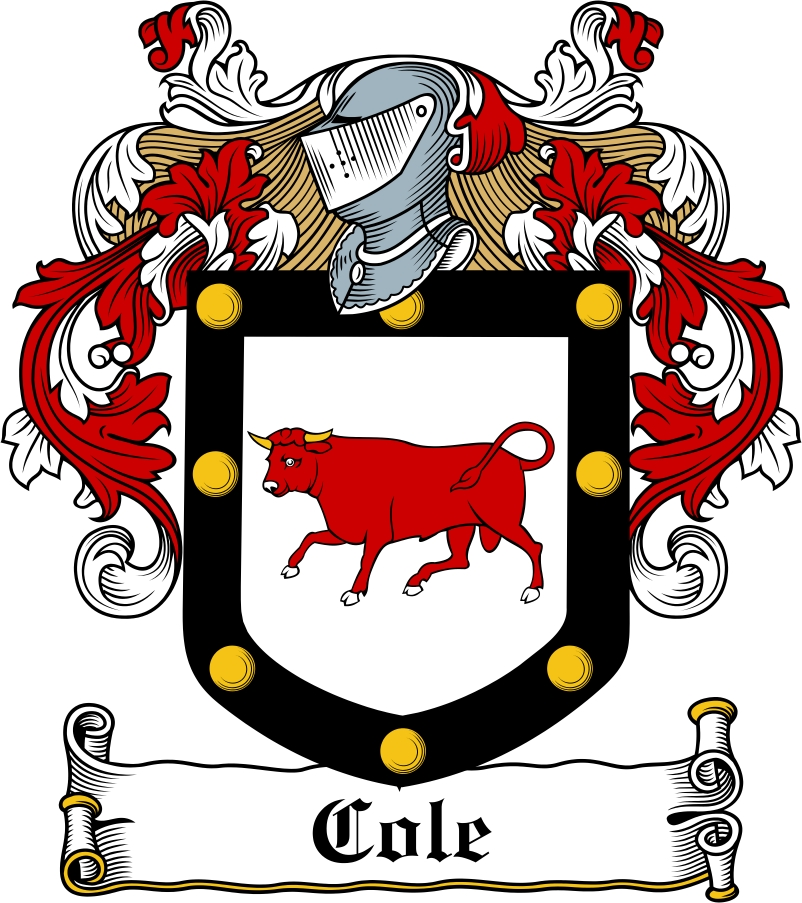 Thumbnail Cole Family Crest / Irish Coat of Arms Image Download