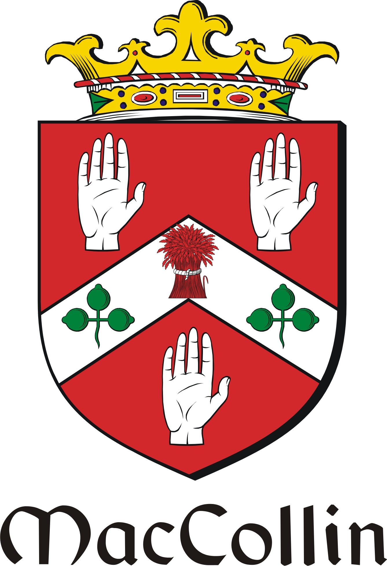 Thumbnail Collin-Mac Family Crest / Irish Coat of Arms Image Download