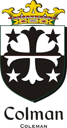 Thumbnail Colman Family Crest / Irish Coat of Arms Image Download