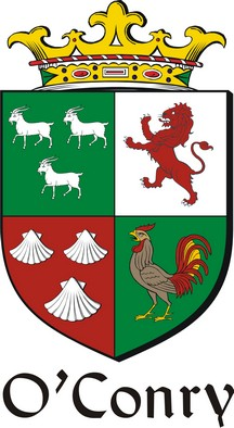Thumbnail Conry-O Family Crest / Irish Coat of Arms Image Download