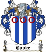 Thumbnail Cooke Family Crest / Irish Coat of Arms Image Download