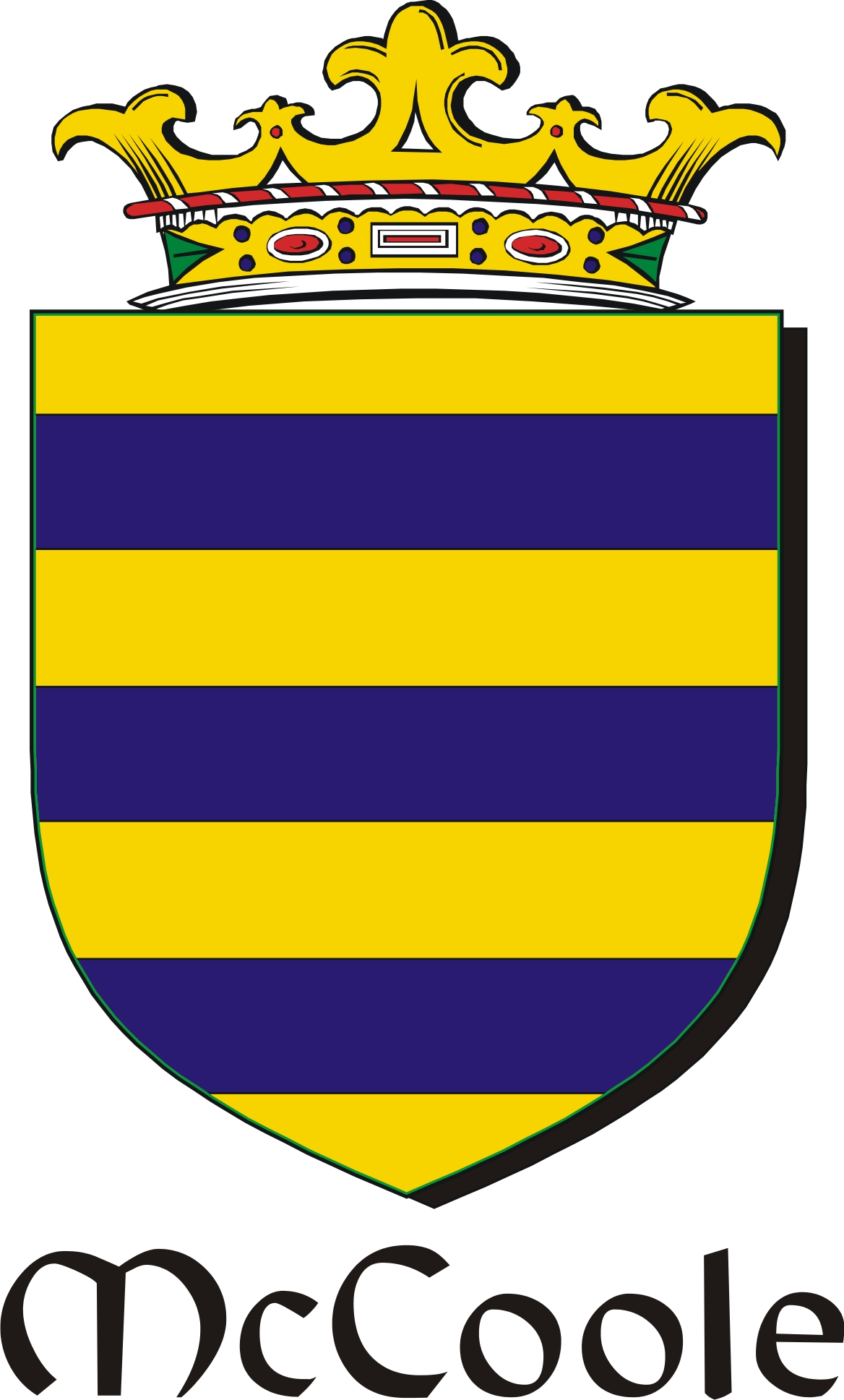 Thumbnail Coole-Mc Family Crest / Irish Coat of Arms Image Download