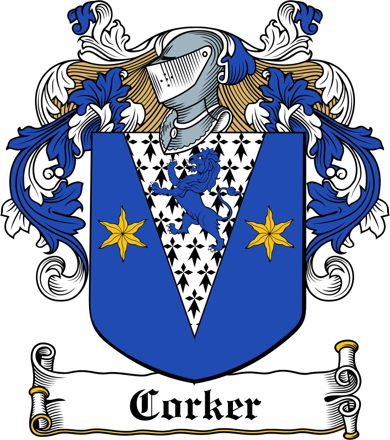 Thumbnail Corker Family Crest / Irish Coat of Arms Image Download