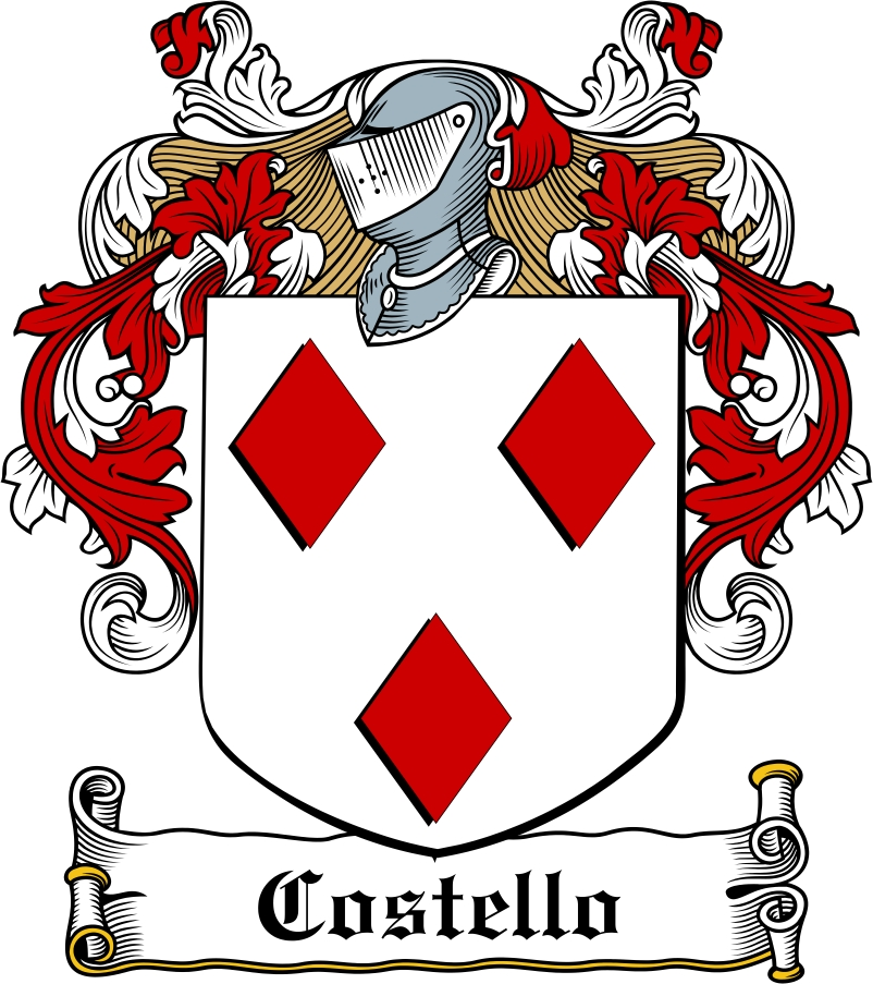 Thumbnail Costello Family Crest / Irish Coat of Arms Image Download