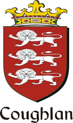 Thumbnail Coughlan Family Crest / Irish Coat of Arms Image Download