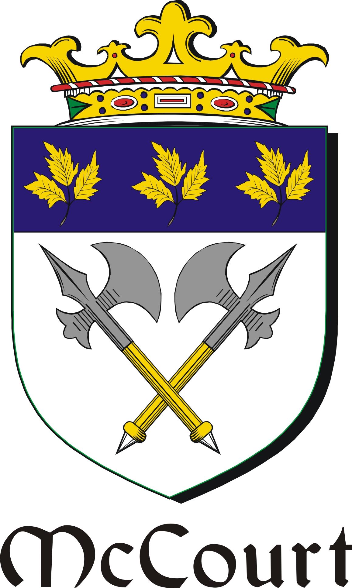 Thumbnail Court-Mc Family Crest / Irish Coat of Arms Image Download