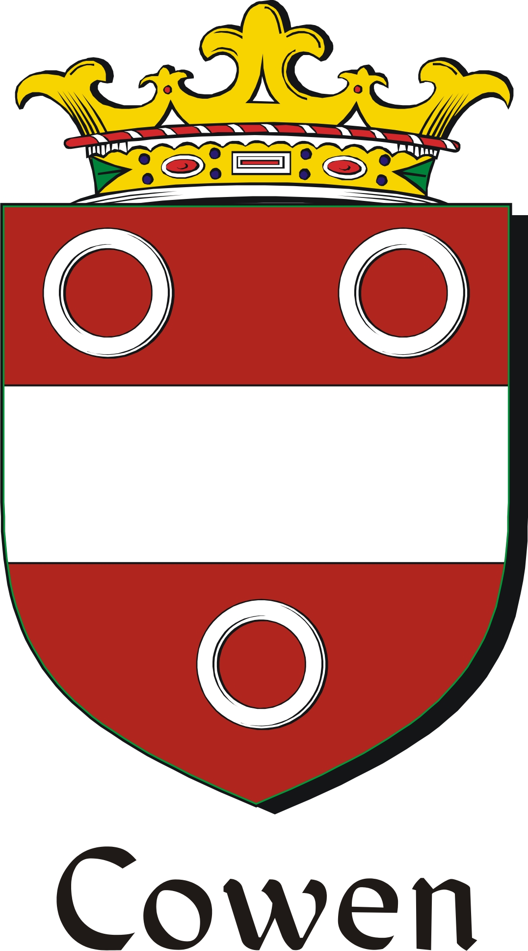Thumbnail Cowen Family Crest / Irish Coat of Arms Image Download