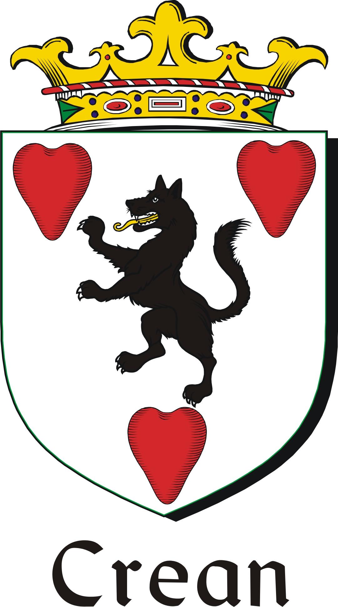 Thumbnail Crean Family Crest / Irish Coat of Arms Image Download
