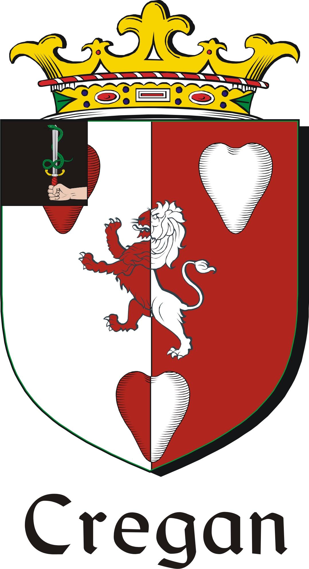 Thumbnail Cregan Family Crest / Irish Coat of Arms Image Download