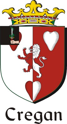 Thumbnail Cregan Family Crest / Irish Coat of Arms Image Download