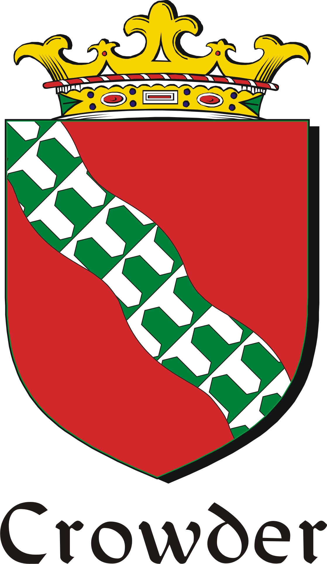 Thumbnail Crowder Family Crest / Irish Coat of Arms Image Download