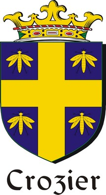 Thumbnail Crozier Family Crest / Irish Coat of Arms Image Download
