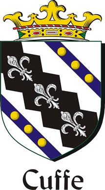 Thumbnail Cuffe Family Crest / Irish Coat of Arms Image Download