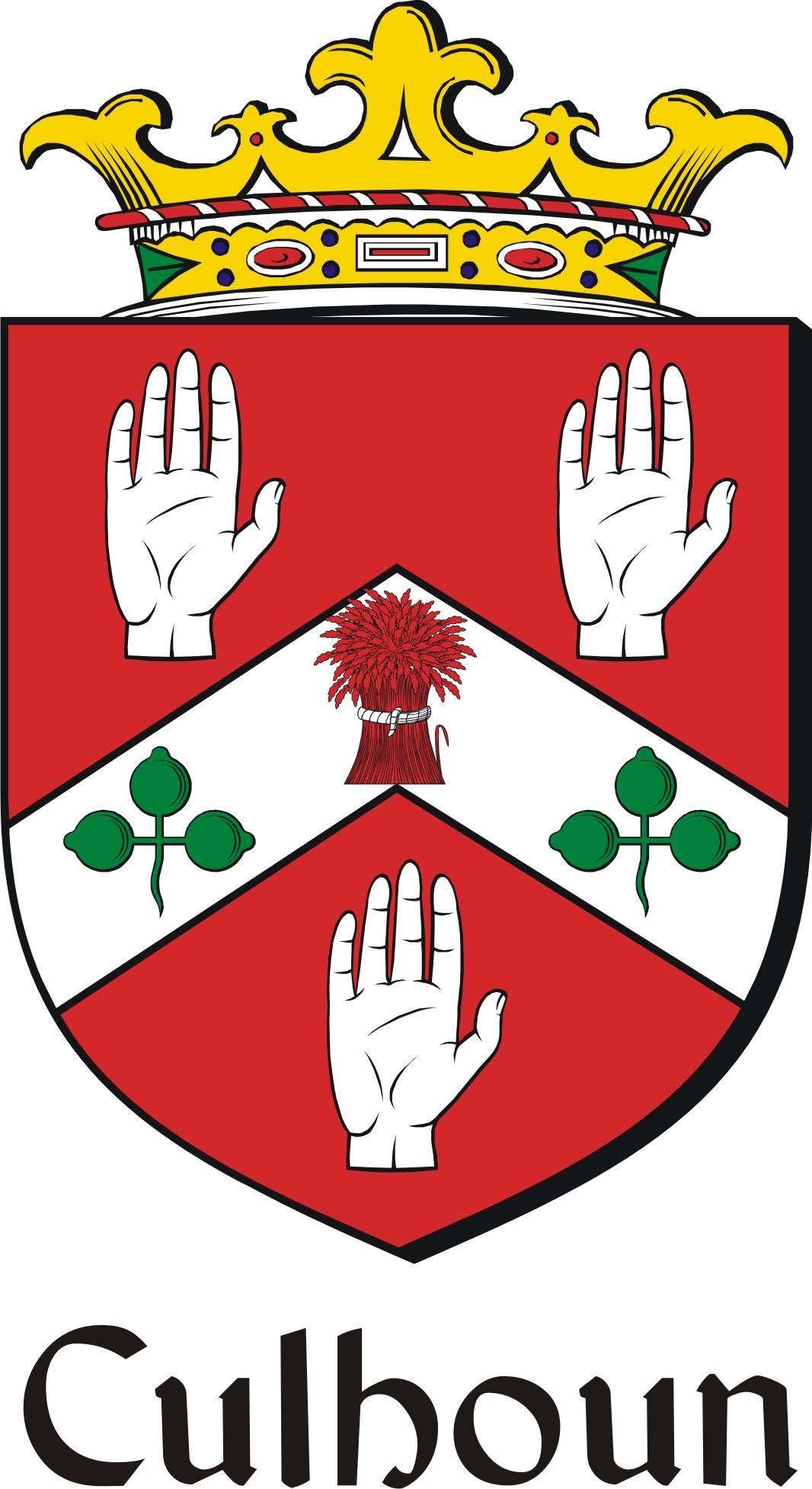 Thumbnail Culhoun Family Crest / Irish Coat of Arms Image Download