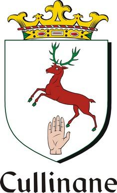 Thumbnail Cullinane Family Crest / Irish Coat of Arms Image Download