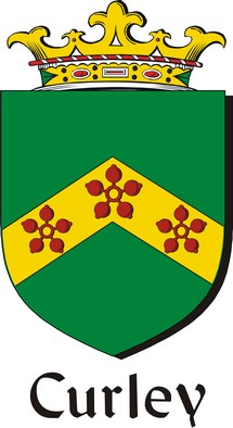 Thumbnail Curley Family Crest / Irish Coat of Arms Image Download