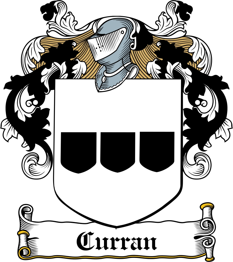 Thumbnail Curran Family Crest / Irish Coat of Arms Image Download