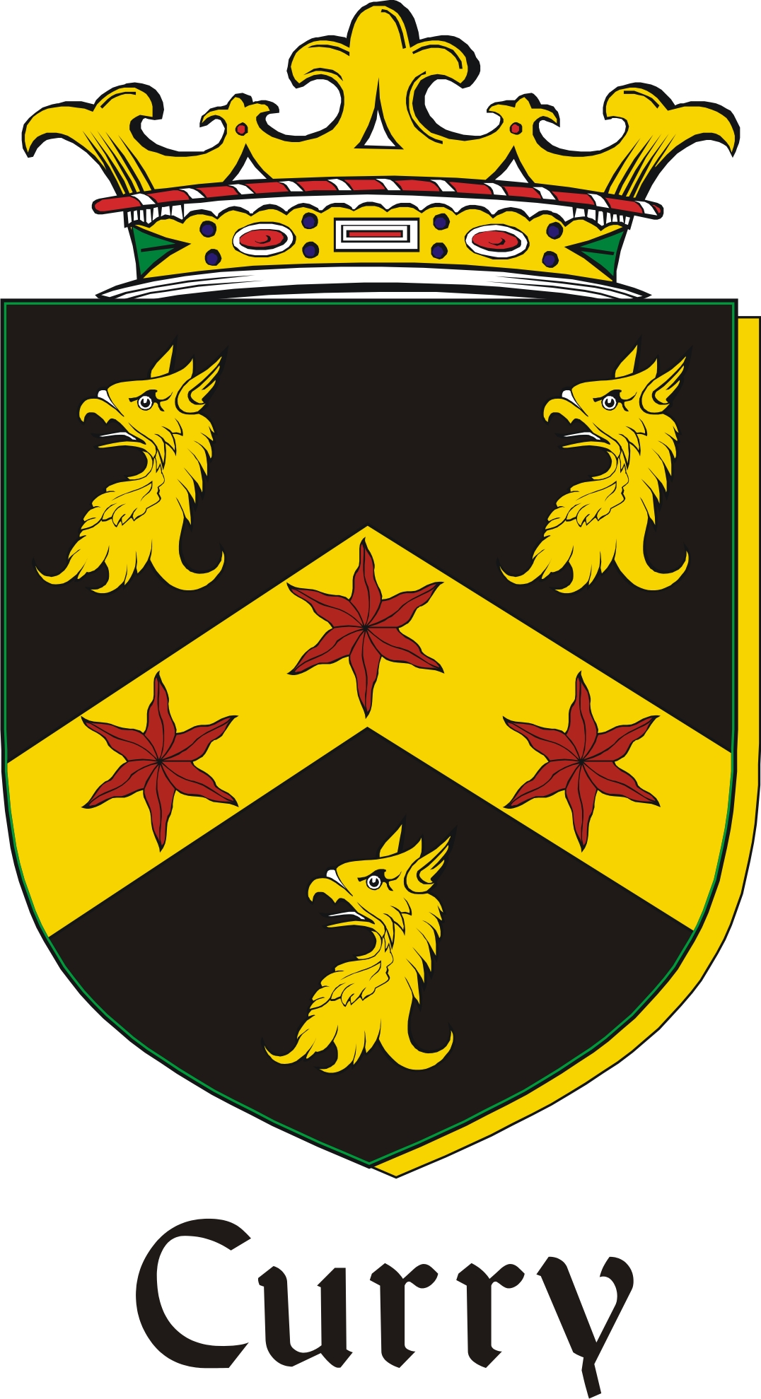 Thumbnail Curry Family Crest / Irish Coat of Arms Image Download