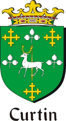 Thumbnail Curtin Family Crest / Irish Coat of Arms Image Download