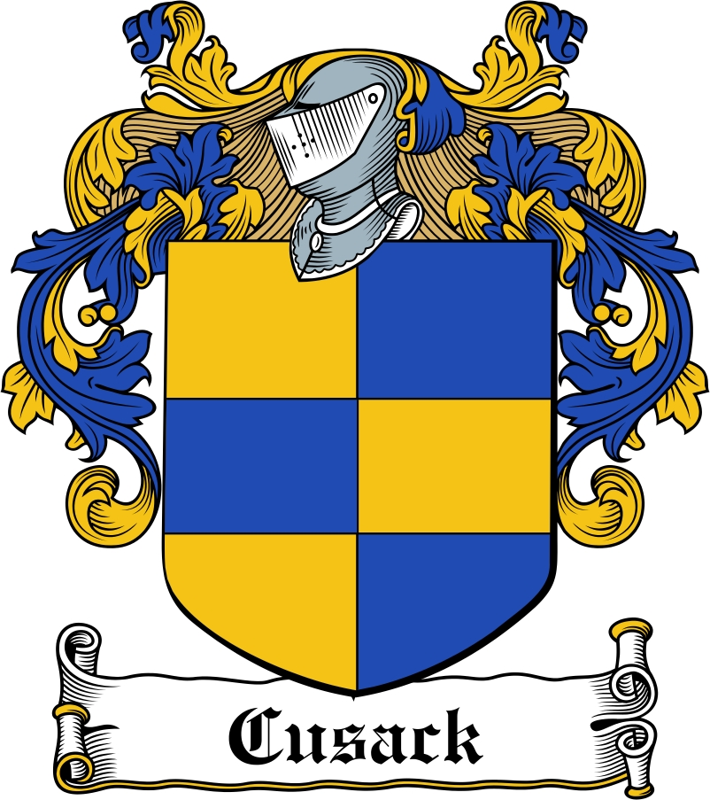 Thumbnail Cusack Family Crest / Irish Coat of Arms Image Download