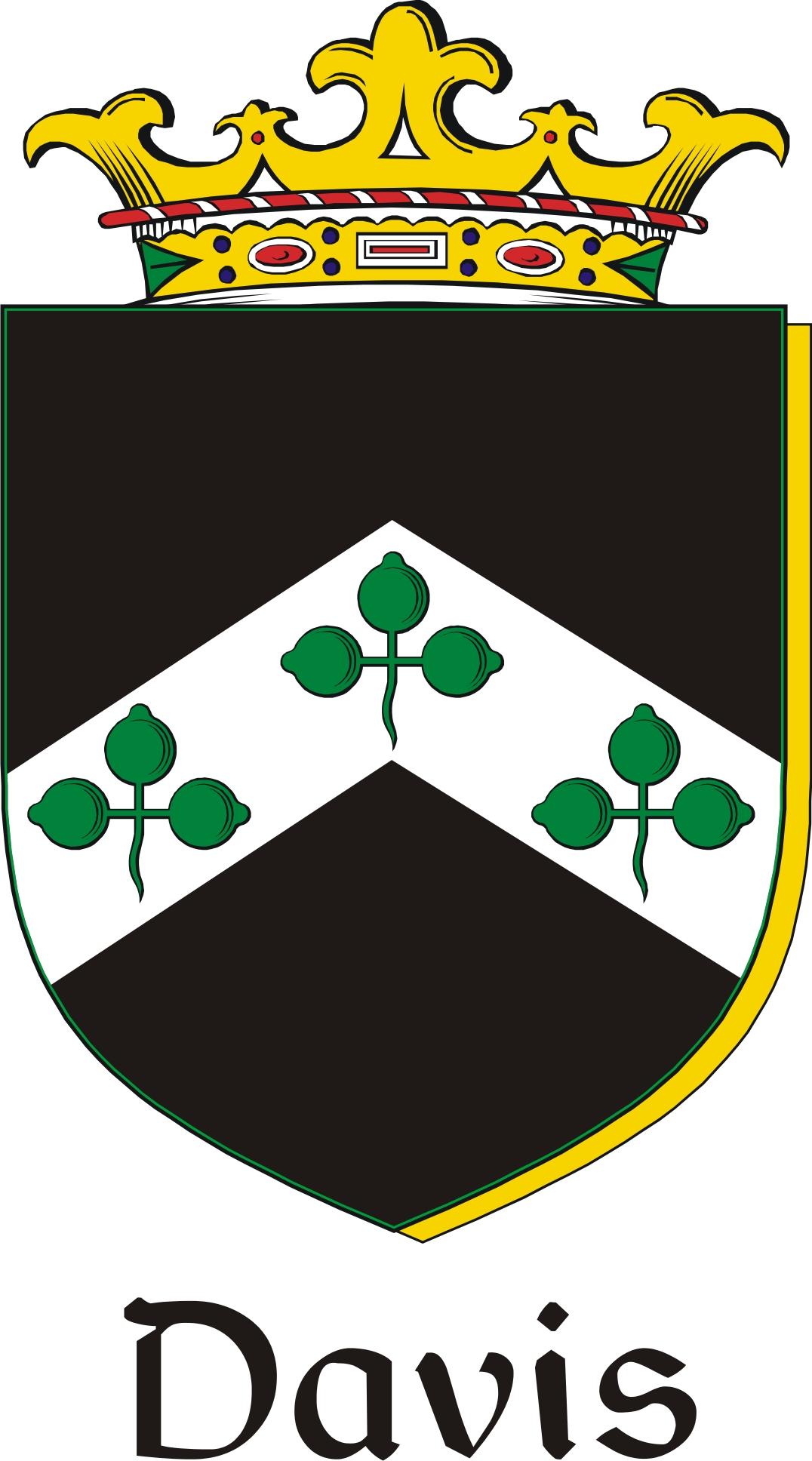 Thumbnail Davis Family Crest / Irish Coat of Arms Image Download
