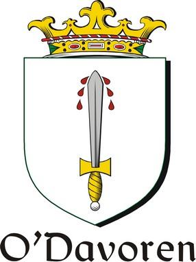Thumbnail Davoren-O Family Crest / Irish Coat of Arms Image Download
