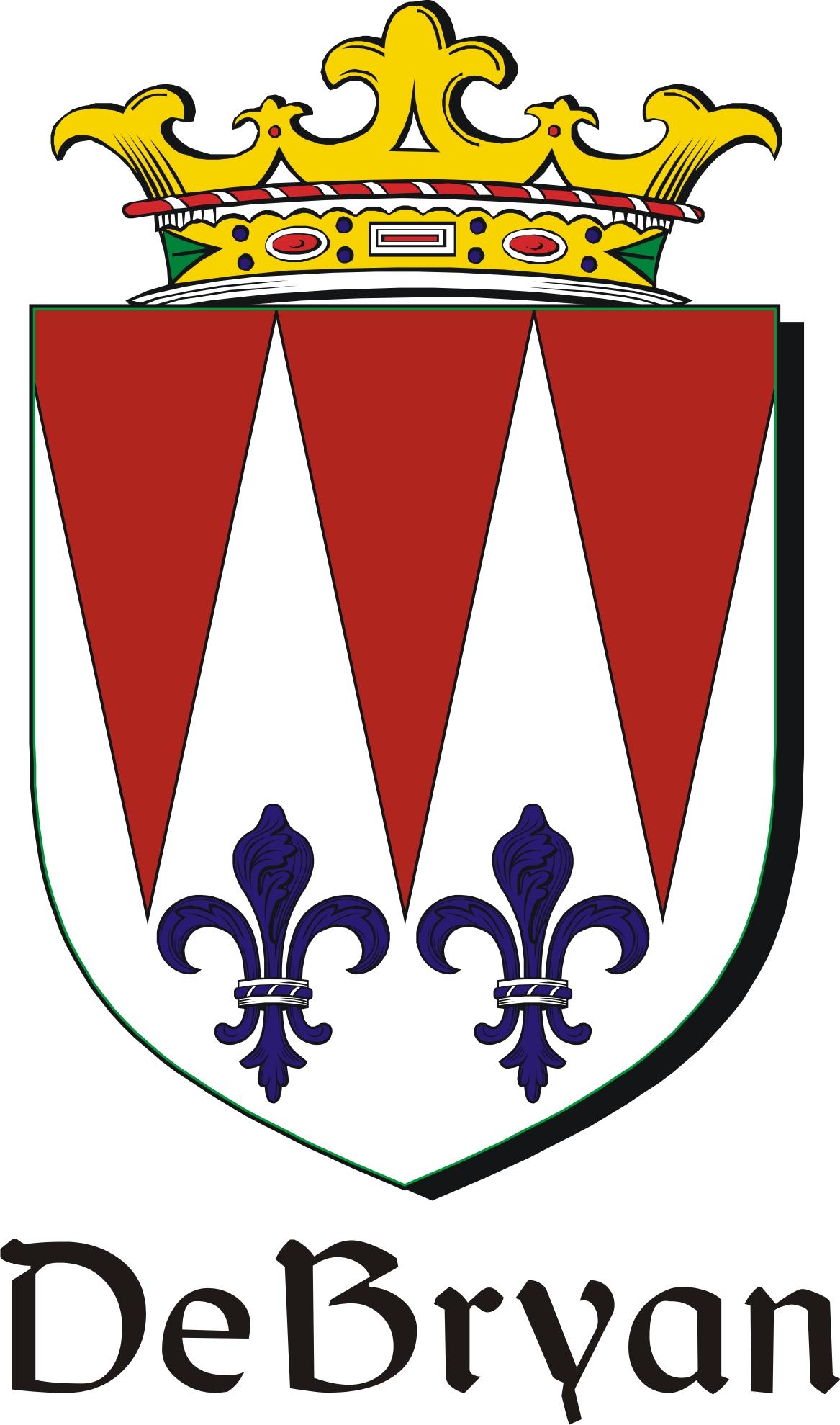 Thumbnail DeBryan Family Crest / Irish Coat of Arms Image Download