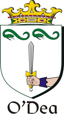 Thumbnail Dea-O Family Crest / Irish Coat of Arms Image Download