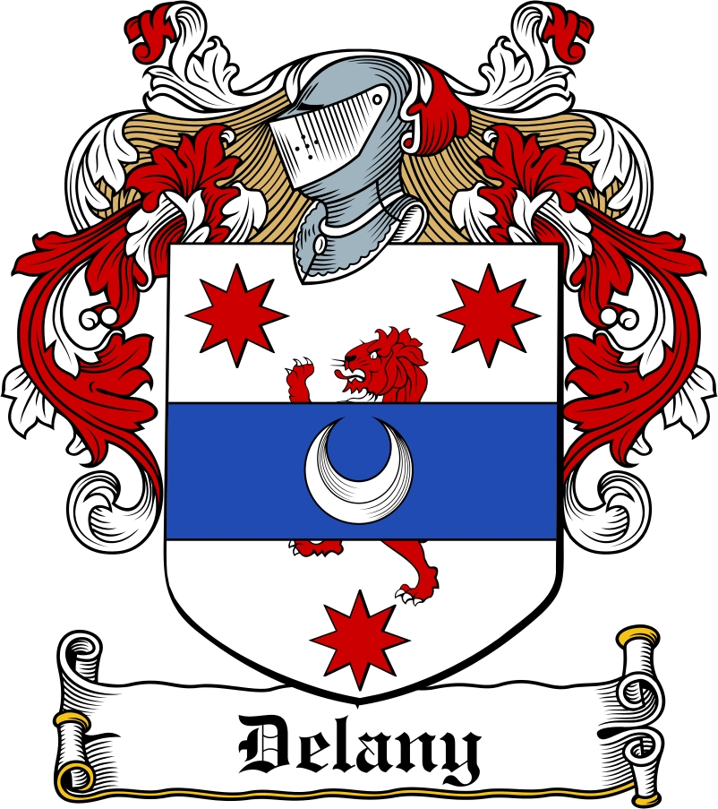Thumbnail Delany Family Crest / Irish Coat of Arms Image Download