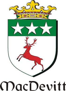 Thumbnail Devitt-Mac Family Crest / Irish Coat of Arms Image Download
