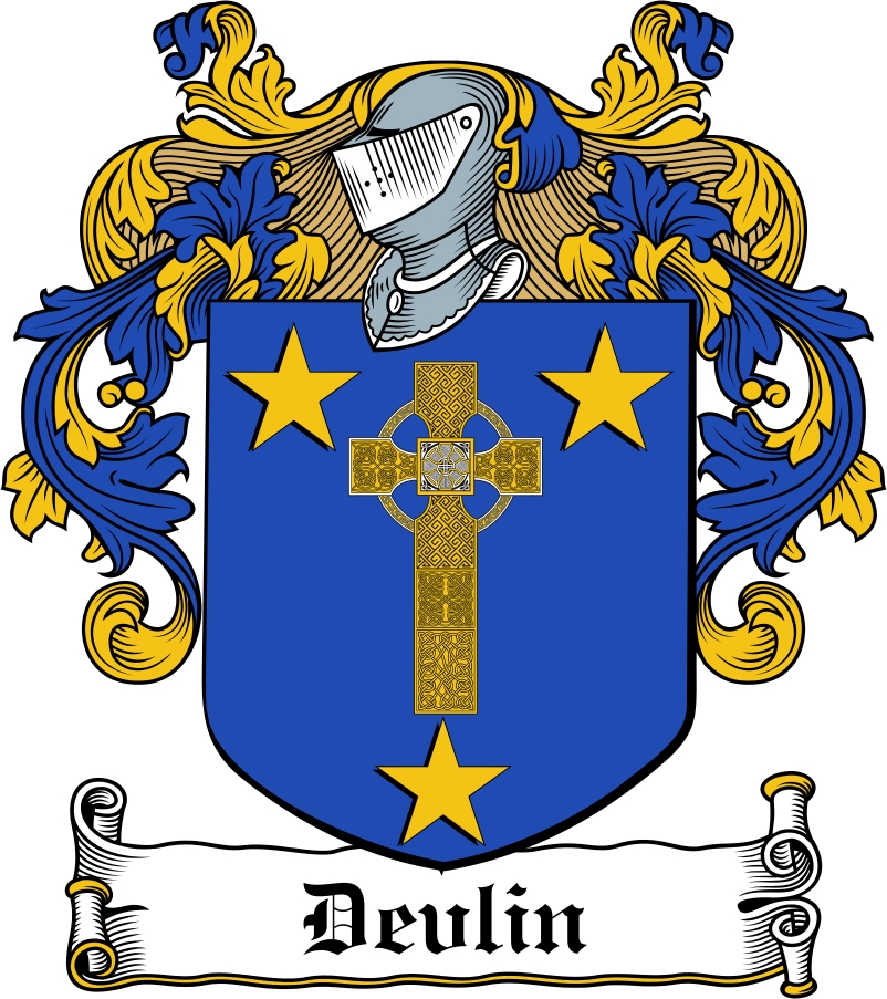 Thumbnail Devlin Family Crest / Irish Coat of Arms Image Download