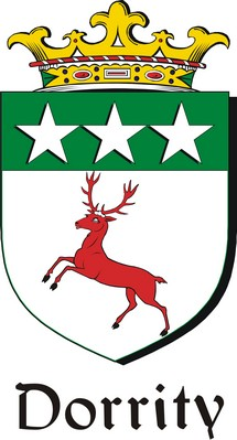 Thumbnail Dorrity Family Crest / Irish Coat of Arms Image Download