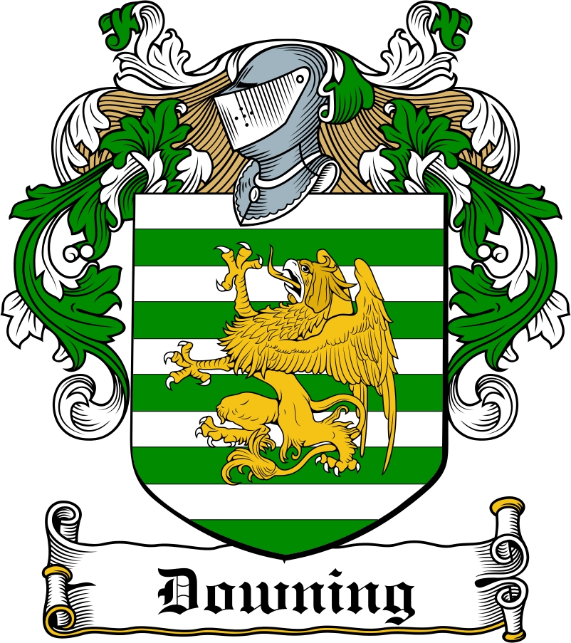 Thumbnail Downing Family Crest / Irish Coat of Arms Image Download